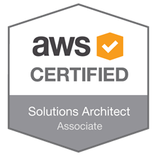 Badge - AWS certified Solutions Architect Associate