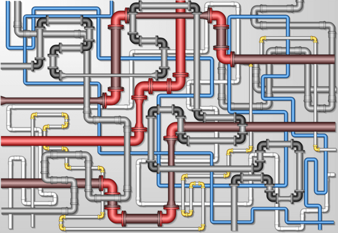 Schematische Pipeline